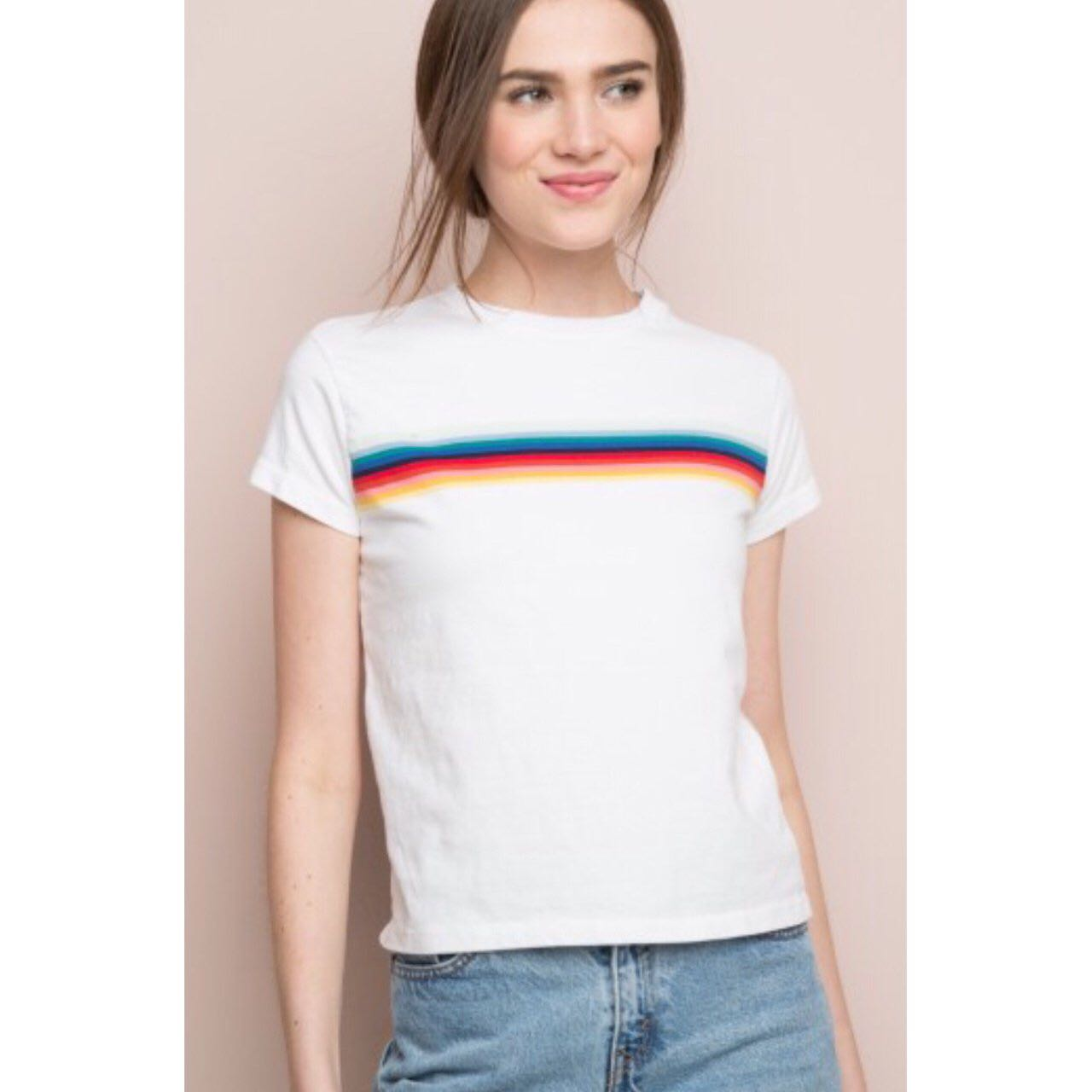 49c4abba7b Authentic Brandy Melville rainbow top