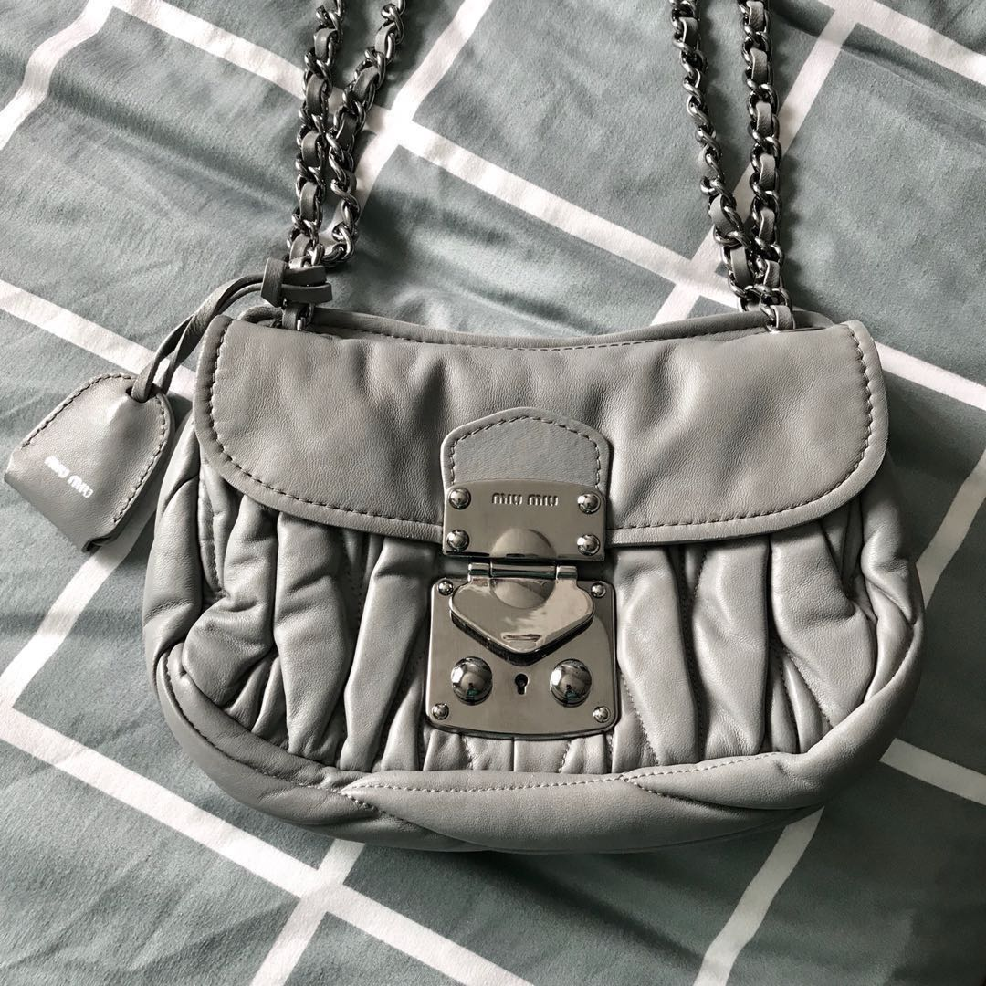 414703e80cd6 Authentic Miu Miu lamb skin mini sling bag for sale