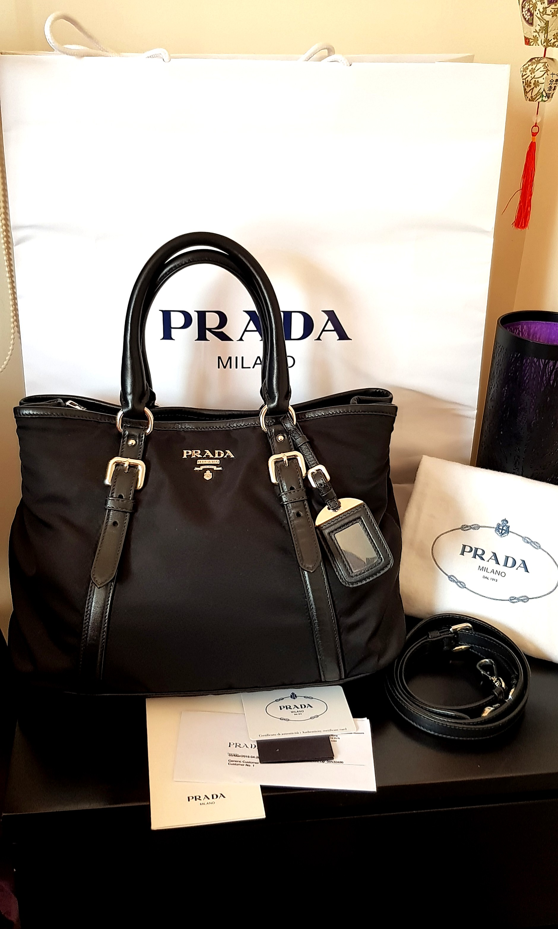 1806a305f8 Authentic Prada bag BN 2832, Luxury, Bags & Wallets on Carousell