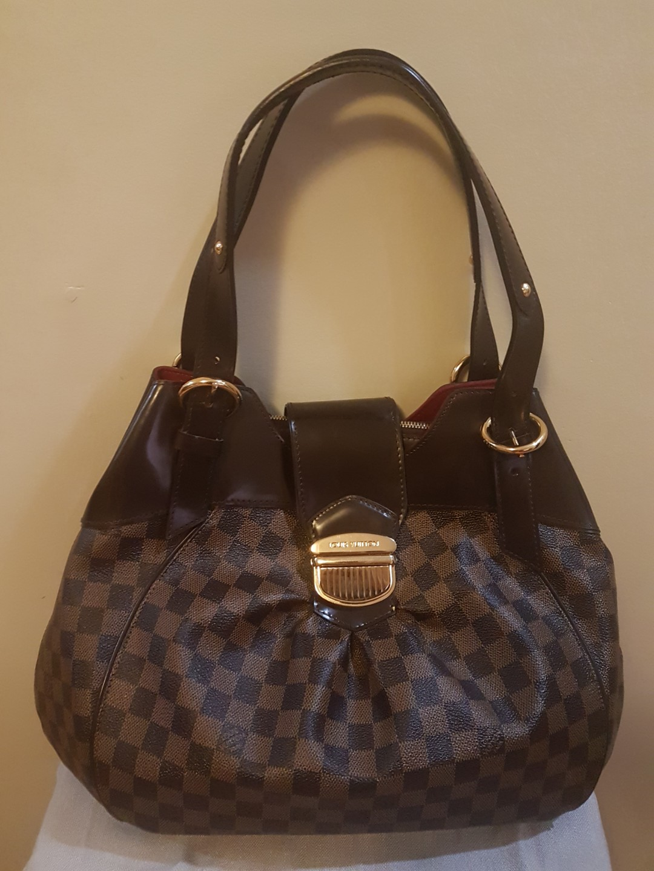 f7abe18fbb8d5 Authentic Preloved Louis Vuitton Damier Ebene Sistina GM Handbag ...