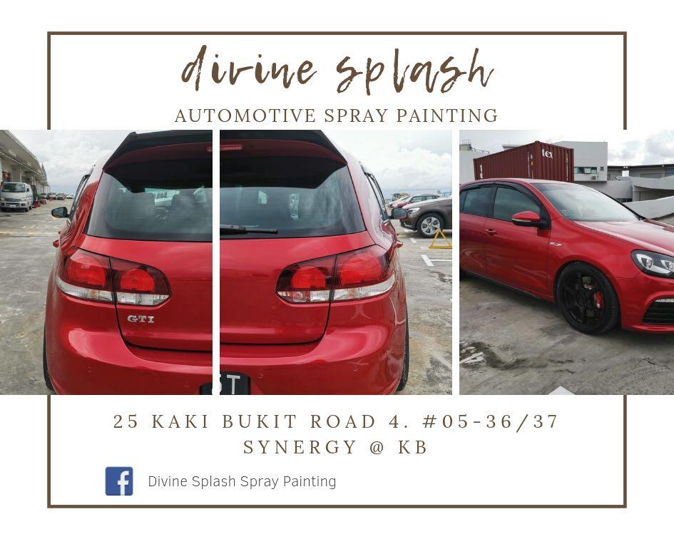 Automotive spray painting service - car spray
