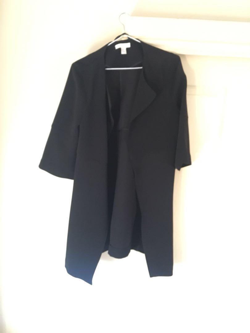 Black elbow length H&M jacket size 10