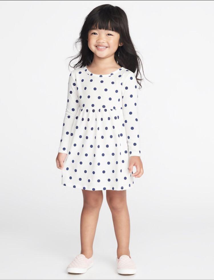 92615594aa99 BN Old Navy Baby Toddler Girl Navy Polkadot White Dress 18-24mths ...