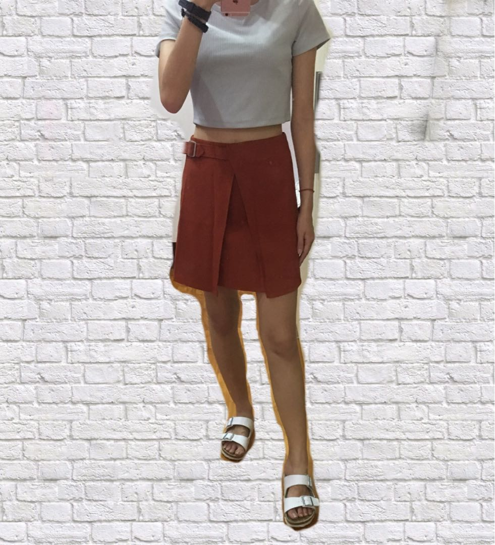 dccc46a228baa7 Burnt Orange Skirt, Women's Fashion, Clothes, Dresses & Skirts on ...