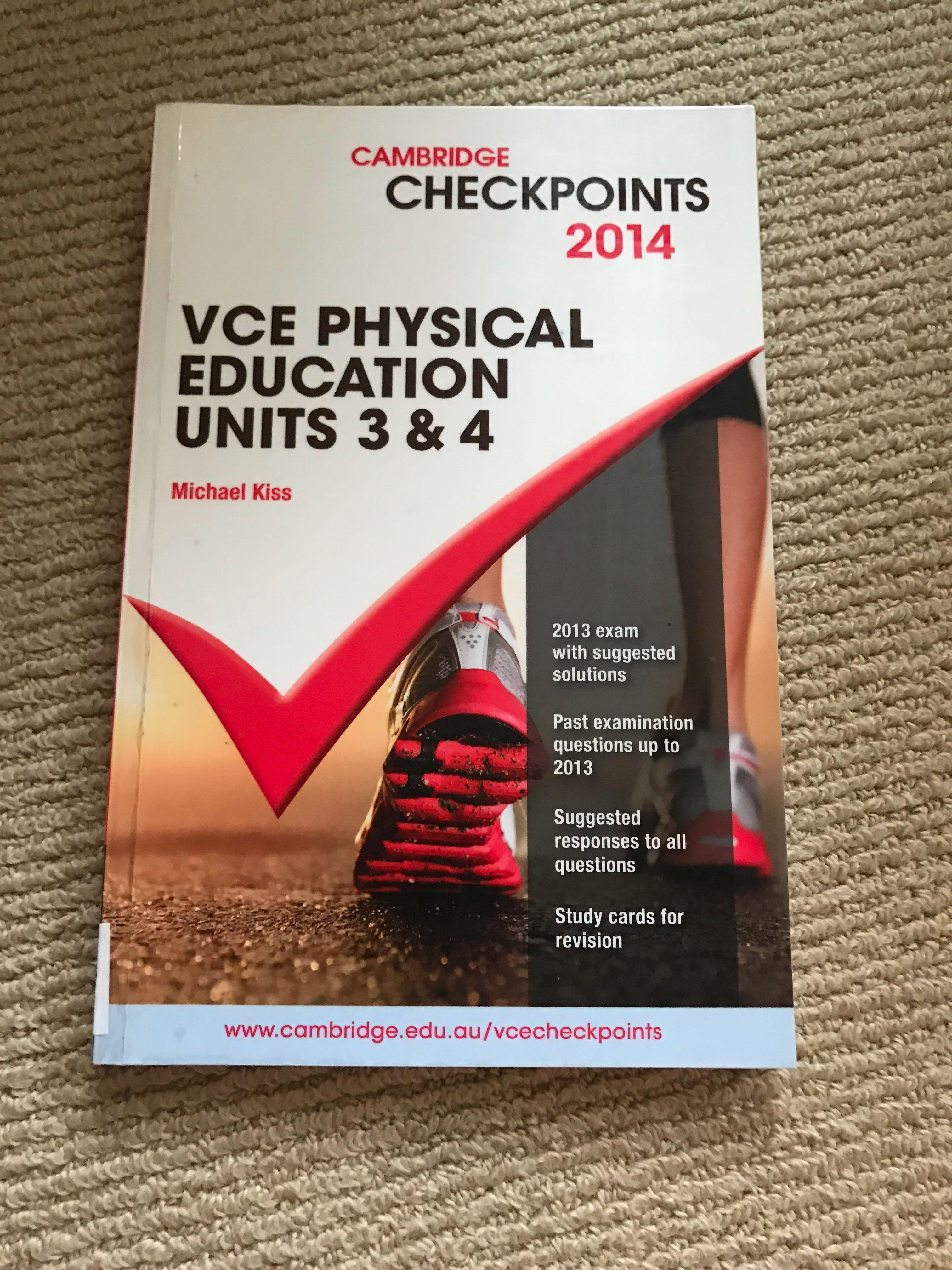 Cambridge Checkpoint Psychical Education Unit 3 & 4