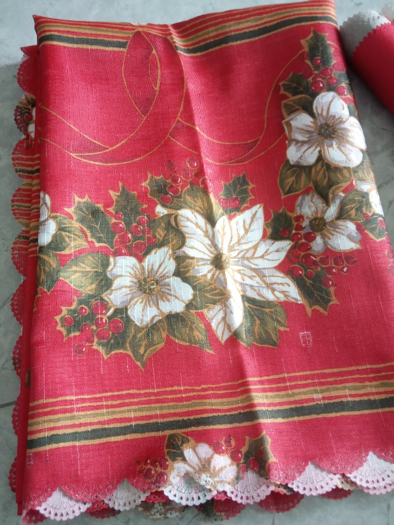 Christmas Tablecloth And Serving Runner Home Appliances