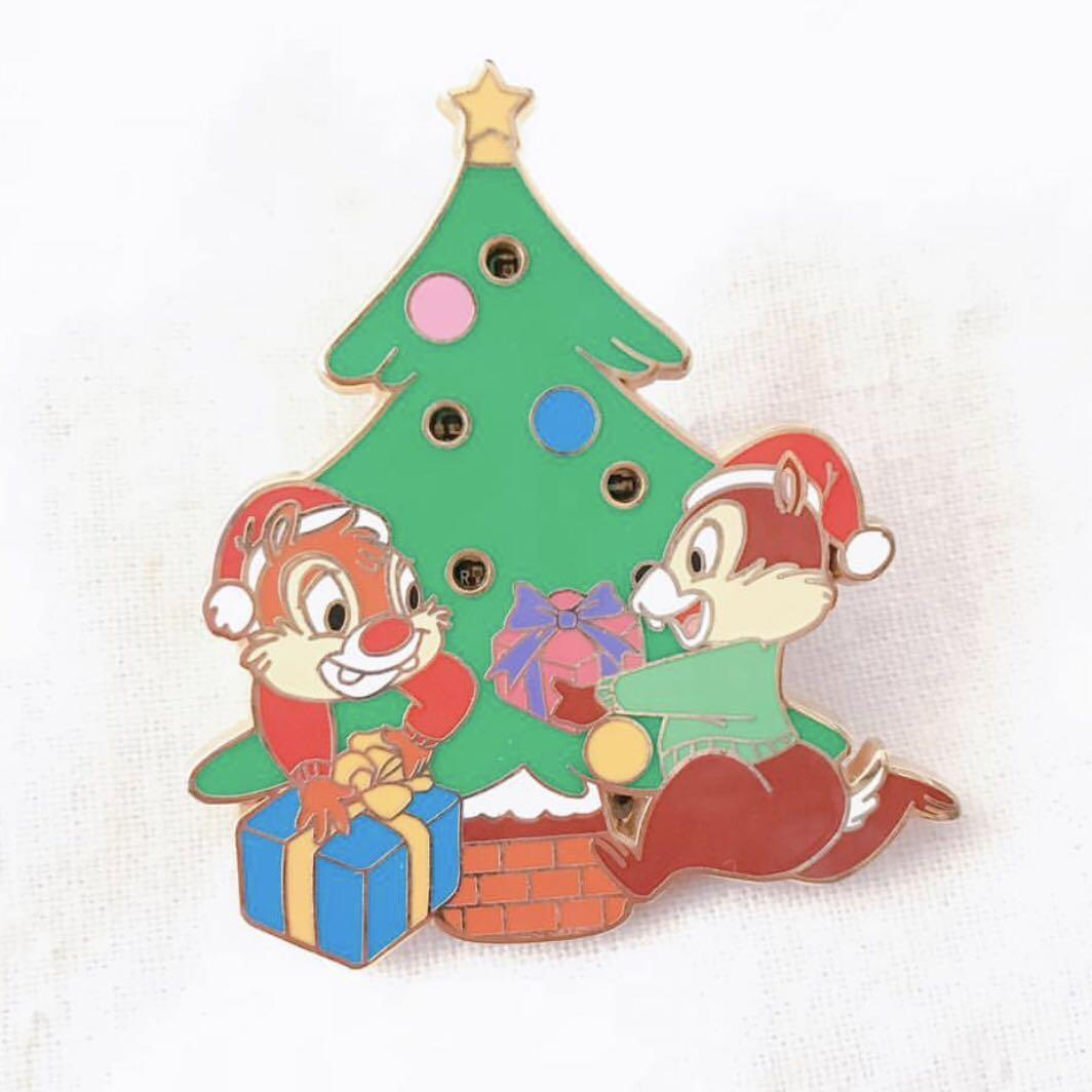 Disney Pin 迪士尼襟章 Chip'n'Dale 大鼻鋼牙 - Christmas Tree🎄Light Up