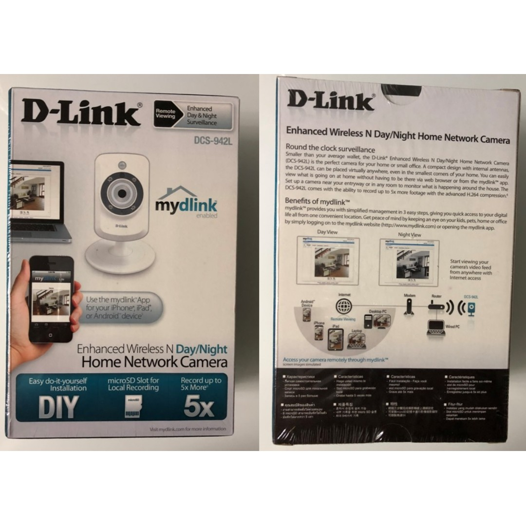 D-Link DCS-942L Enhanced Wireless Day and Night Home Network camera (New  Sealed with Free delivery)