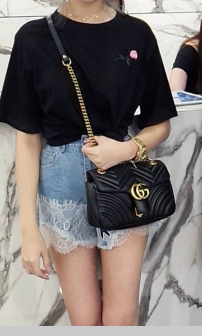 fbab3c502 Gucci marmont, Women's Fashion, Bags & Wallets, Sling Bags on Carousell