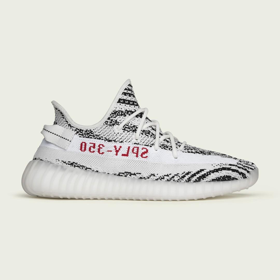 🔥In Stock🔥 UK6/8 5 Yeezy Boost V2 350 Zebra