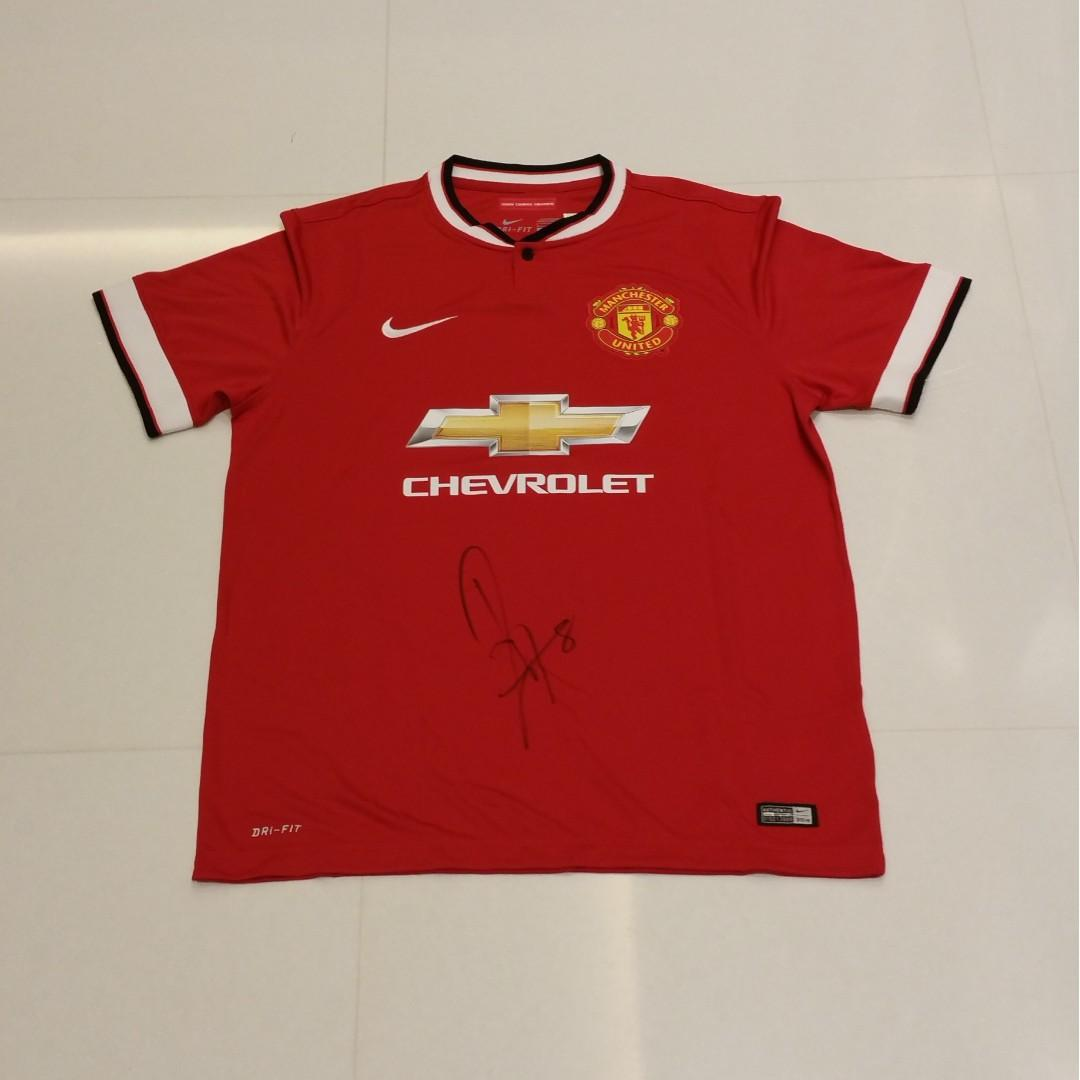 more photos 895fb 94f19 Juan Mata Signed, Autographed, Manchester United Jersey From ...