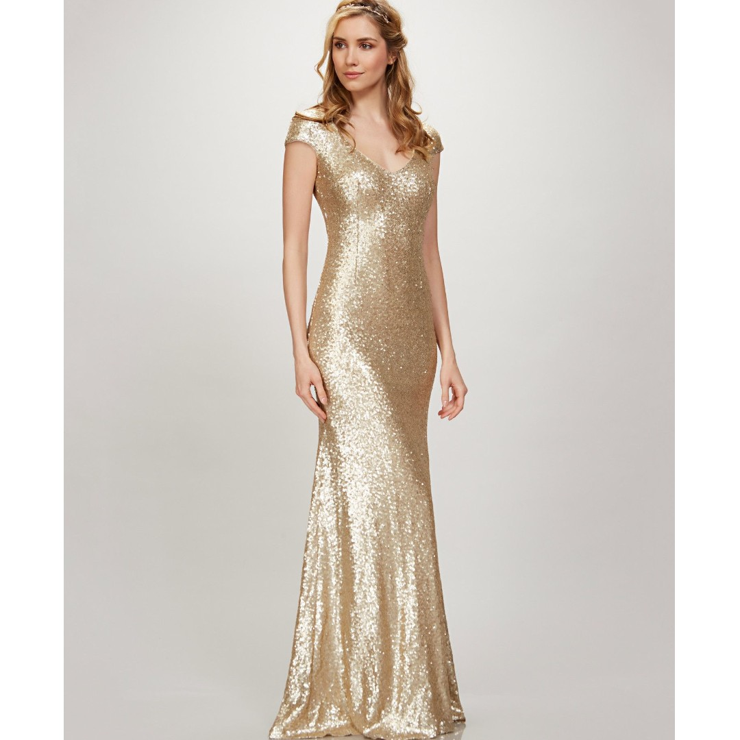 Kaylee Mattegold Gown, Women's Fashion, Dresses & Sets, Evening ...