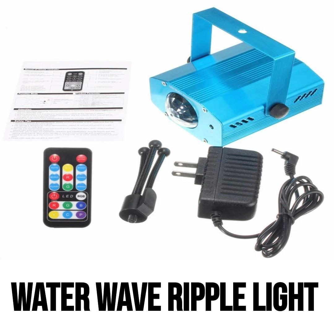 LED Stage Light 7 Color Water Wave Ripples Laser Projector Lamp Auto Flash Sound Activated LED Disco Dj Party Stage Lights