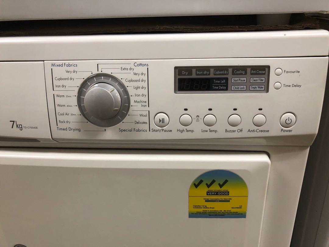 LG dryer condenser 7kg 3Ticks LOOK NEW