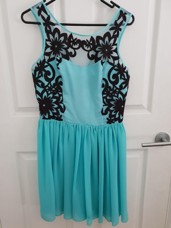 LIPSY LONDON beautiful blue dress BNWT $120!! Size 10