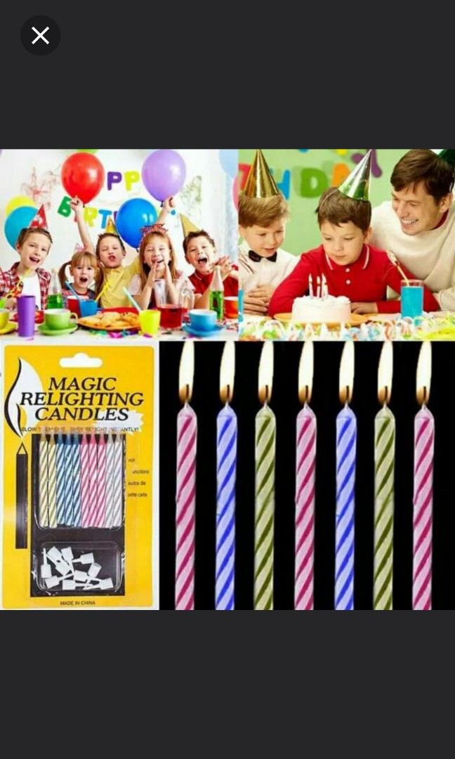 Magic Relighting Candle Happy Birthday Candles Trick