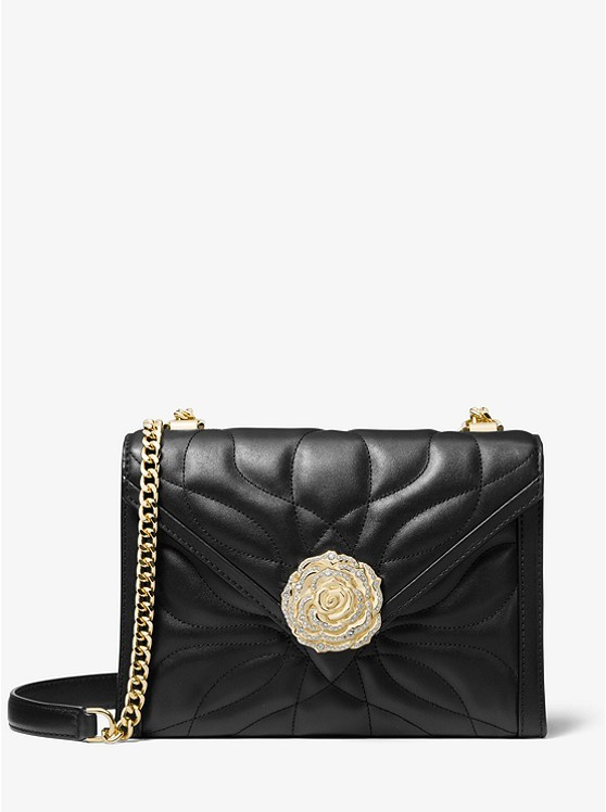 c0c985940b099 Michael Kors Whitney Large Petal Quilted Leather Convertible Shoulder Bag