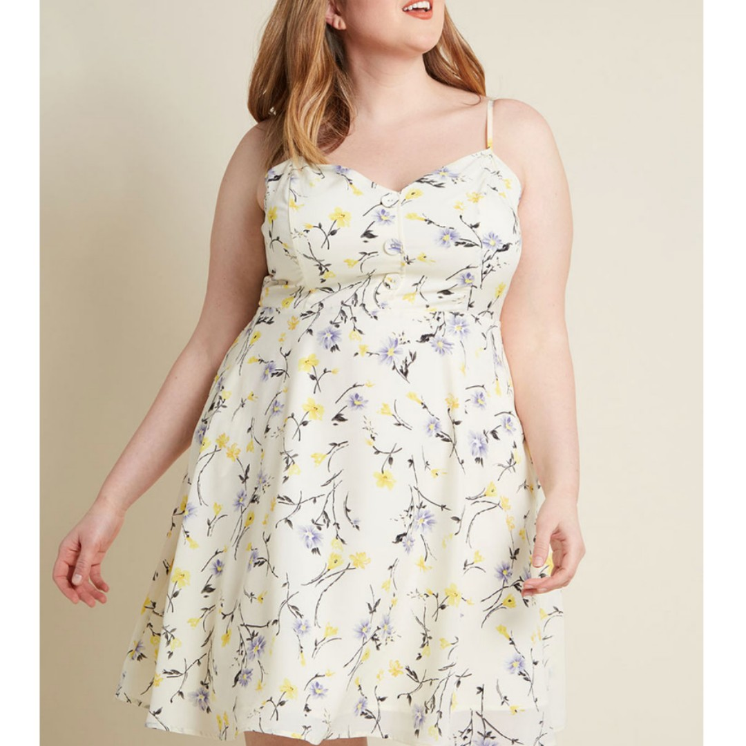 fc6d3c6028 Modcloth Living Lightheartedly Sundress with pockets (Size XL ...