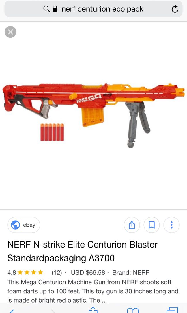 Nerf Centurion Brand New In Eco Pack Toys Games Others On Carousell