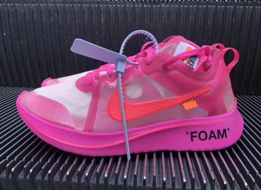 fe3571b74af4 Nike Zoom Fly x Off white Pink Tulip