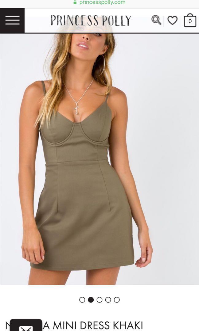 Novella Dress in Khaki