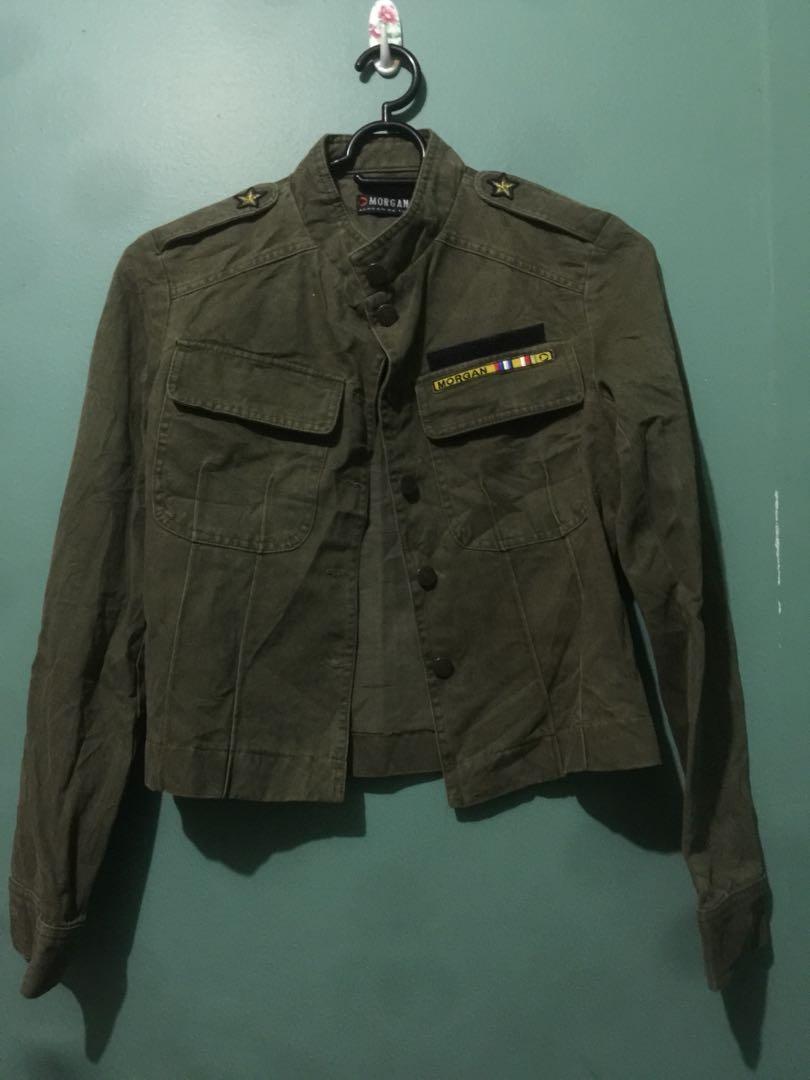 5b23746da0 Original Morgan army green denim jacket
