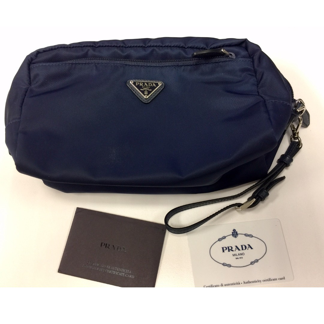 a2cfd0f8a662 Almost New**] Prada Pouch, Luxury, Bags & Wallets, Others on Carousell