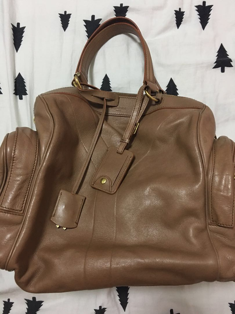 b2818c7febd Preloved authentic YSL Work bag in tan, Women's Fashion, Bags ...