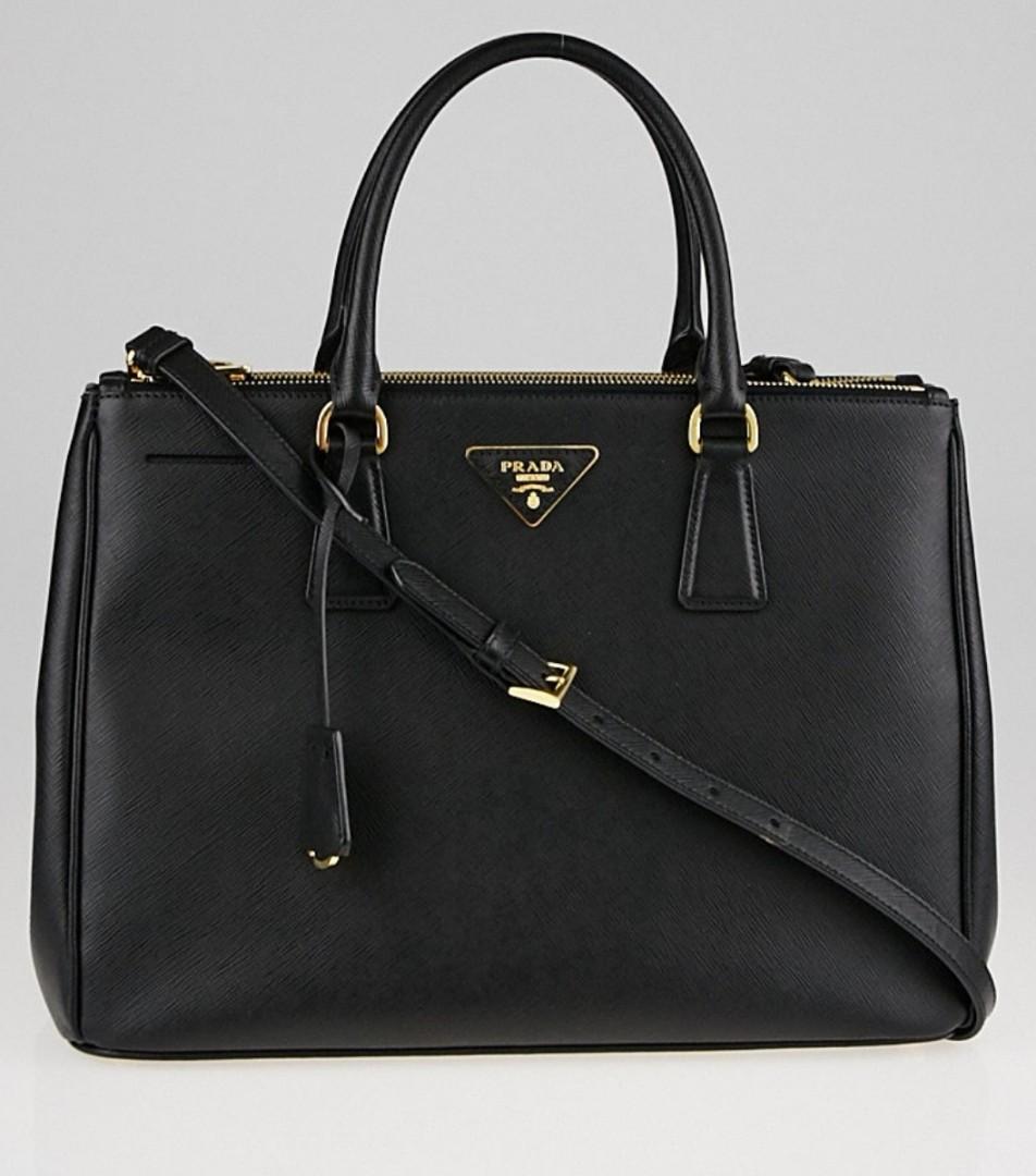 a953db5b5e52 Preloved Prada Saffiano Lux Black Handbag, Women's Fashion, Bags & Wallets,  Handbags on Carousell