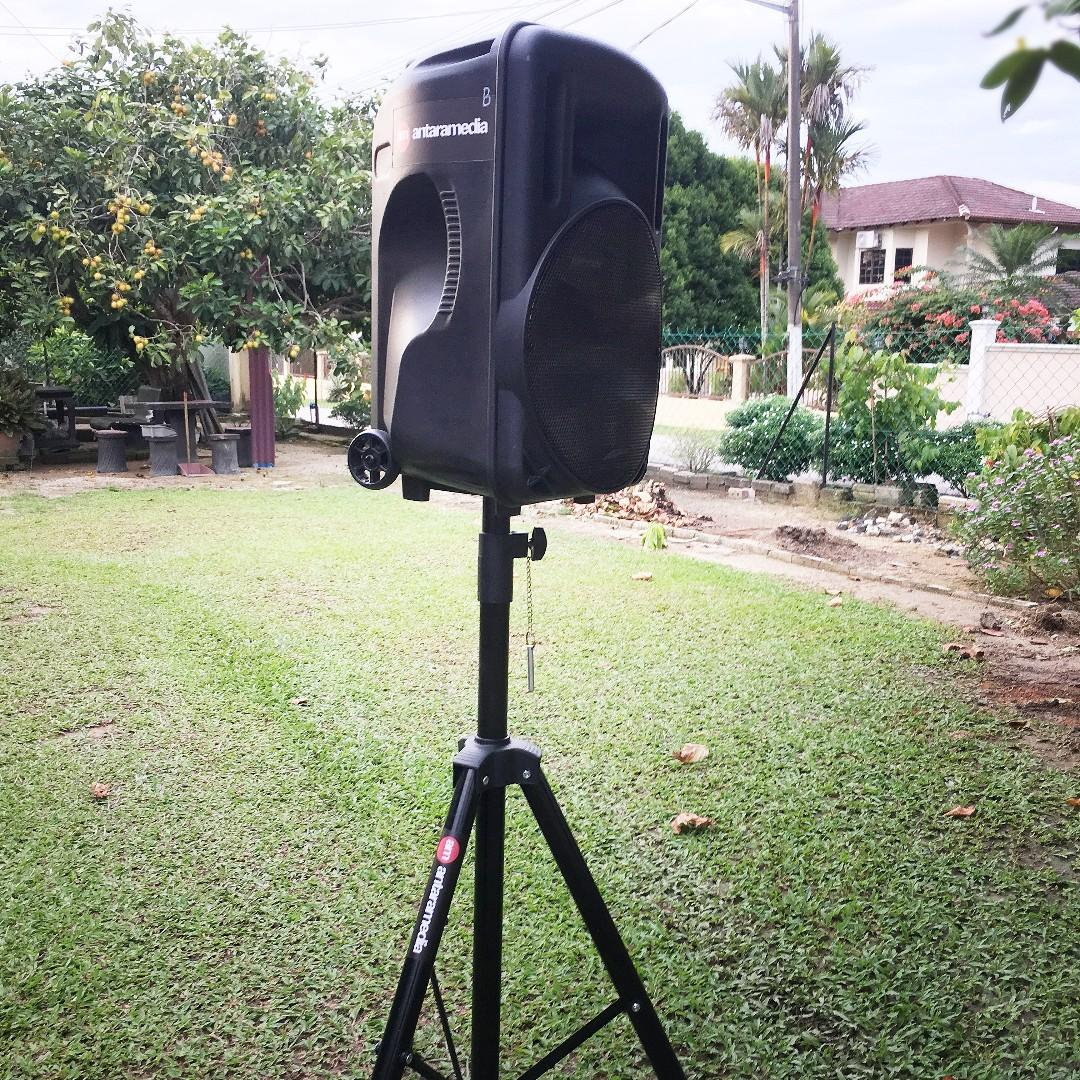 RM90 Sewa rent PA system portable speaker -2 WIRELESS MIC!