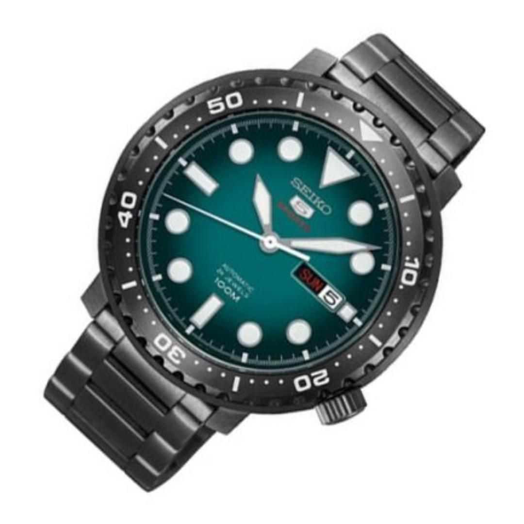 detailed look 91969 235c3 Seiko 5 Sports Automatic Green Dial Male Sports Men Watch ...