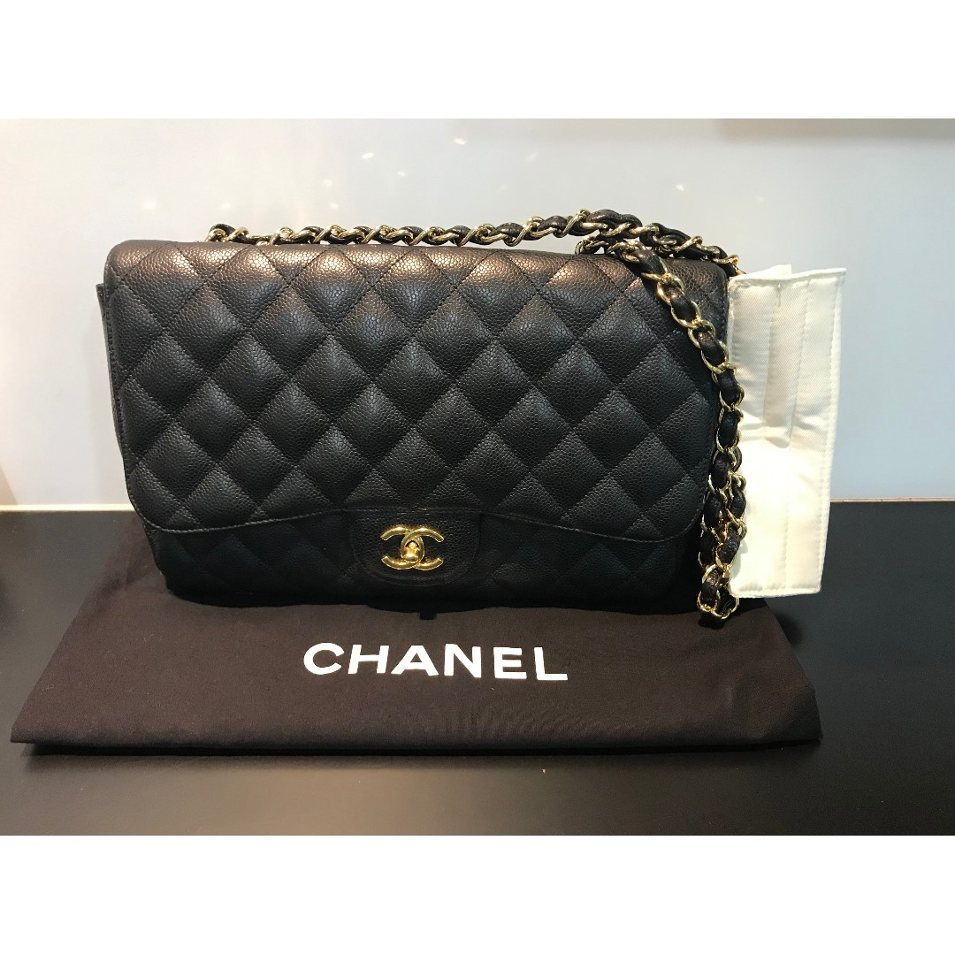 5313d42bbc80 Selling Chanel jumbo single flap ( caviar black GHW), Luxury, Bags ...