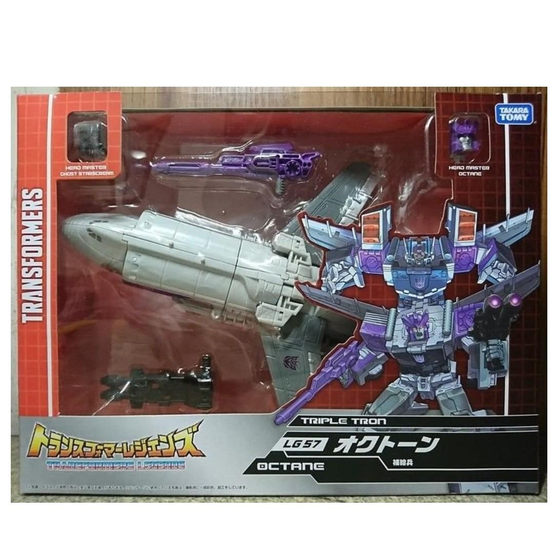 Transformer toy TAKARA Legends LG-57 OCTANE /& GHOST STARSCREAM HEAD MASTER New