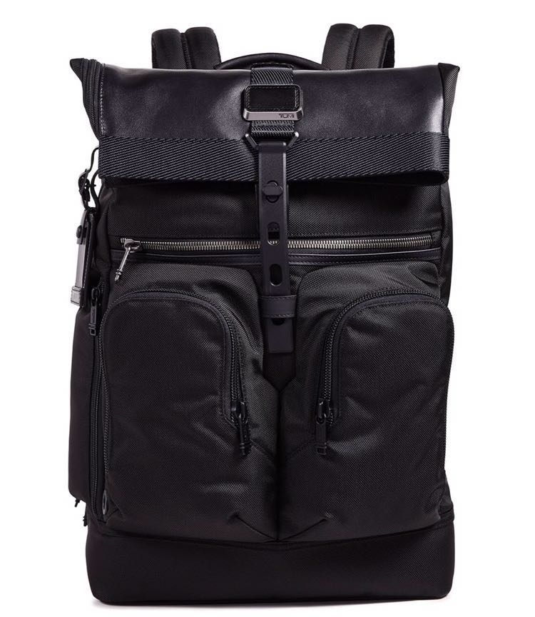 e833b098997e Tumi Alpha Bravo London roll top black backpack