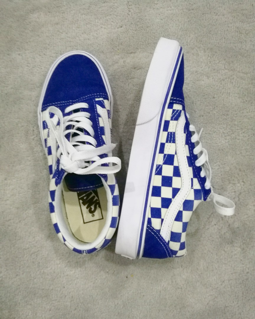 fbbd954a84 VANS Old Skool Primary Check True Blue White