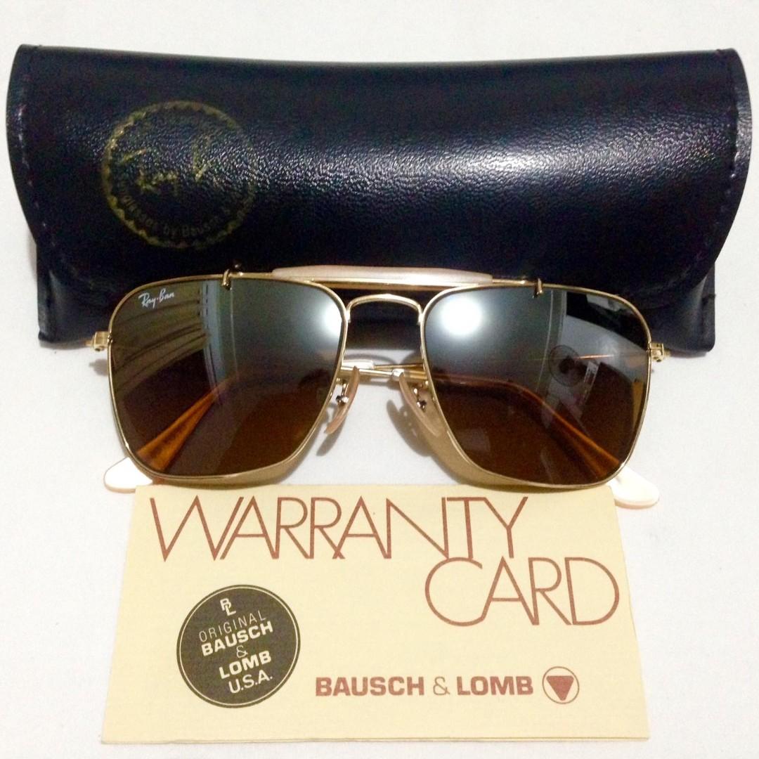 15607f00424c Vintage 80s BL Rayban Caravan Outdoorsman Eyewear