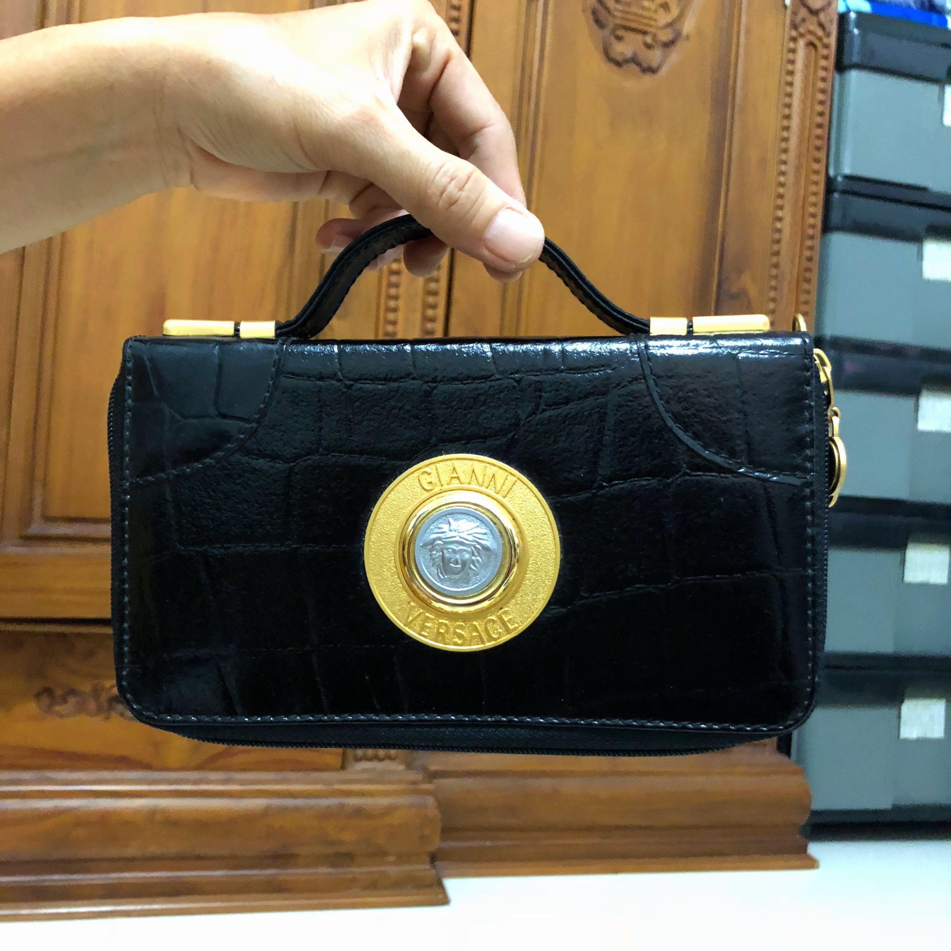 Vintage Authentic Gianni Versace Handbag Clutch 4108735177ee3
