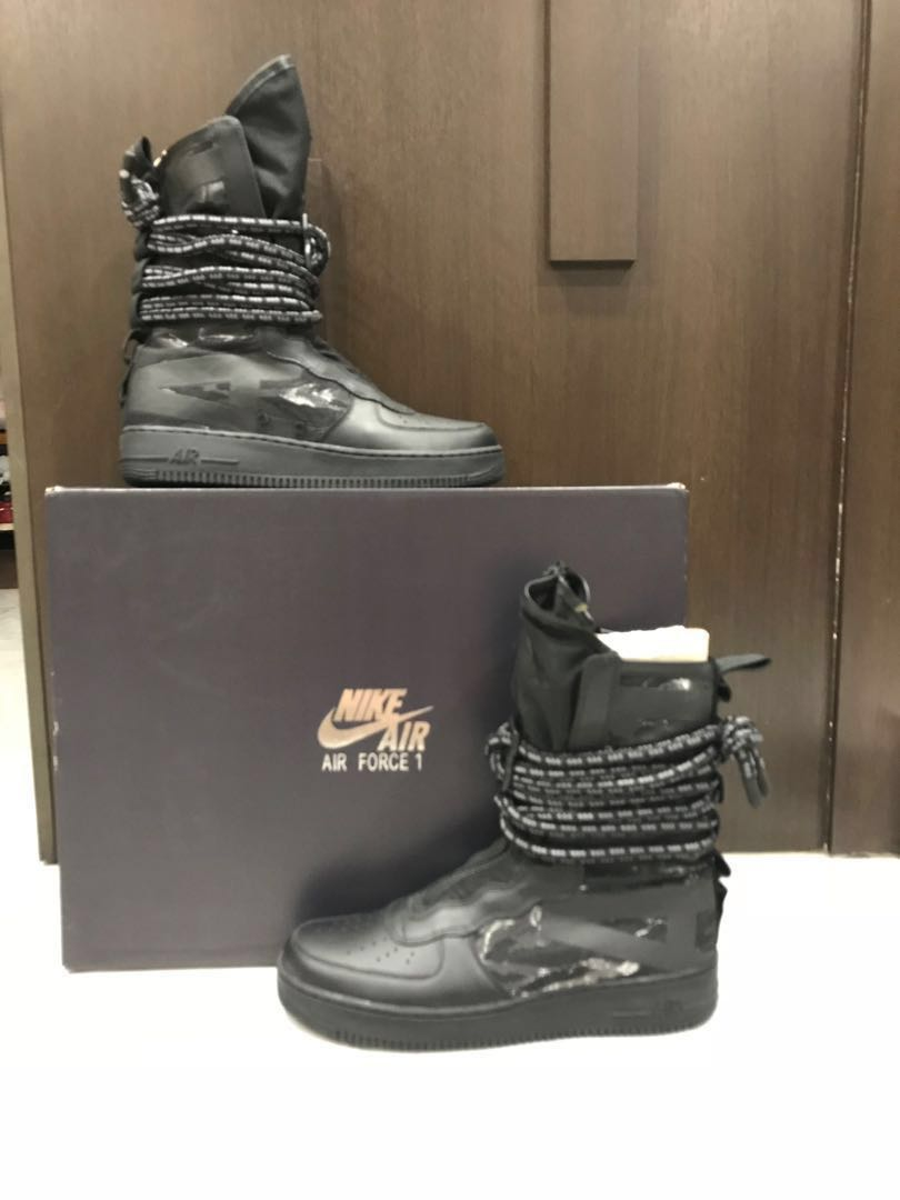 the best attitude 25564 a3138 WTSWTT New Nike Air Force 1 Hi SF AF1 High Black Special For