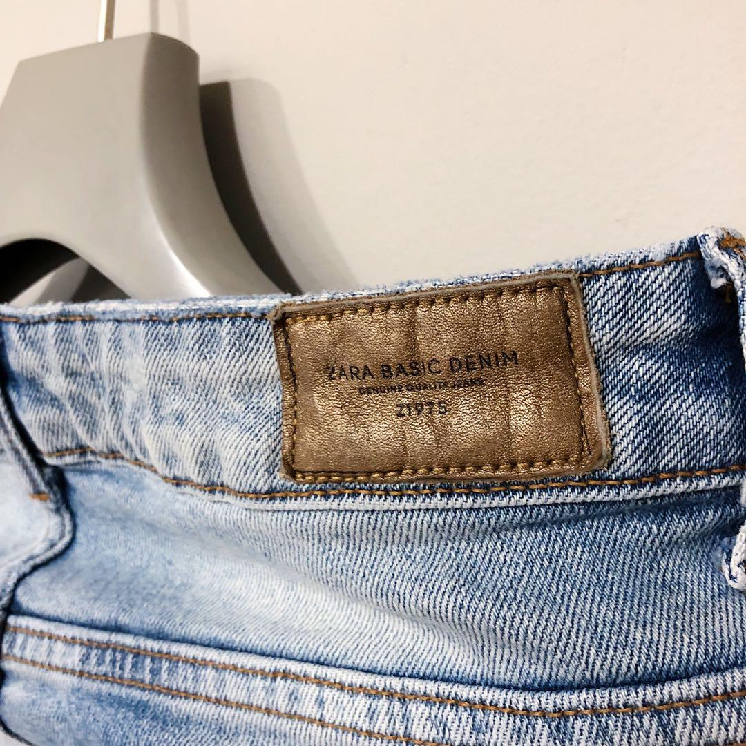 ZARA TRAFALUC EMBROIDERED JEANS.