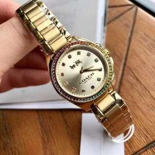 Coach Ladies Watch in Gold Tone
