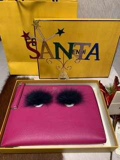 🎄🎁Fendi Fuchsia Monster Fur Clutch