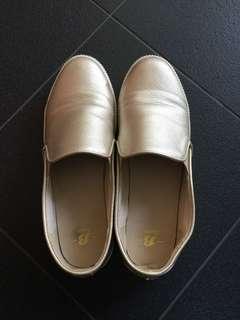 Bata slip on shoe Gold
