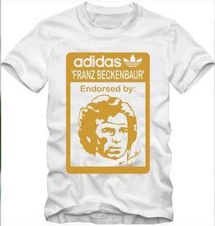 T shirt adidas franz beckenbauer white