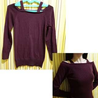 Top Knitted Maroon