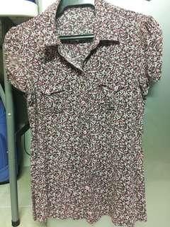 Floral Short Sleeves Polo