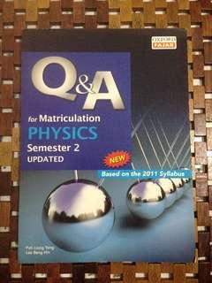 Physics Q&A matriculation