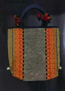 購自尼泊爾橙金色民族袋上膊袋