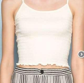Brandy Melville Izzy Top in pale yellow