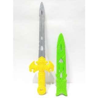 Pedang Plastik Mainan Anak Laki-Laki Warna Hijau Kuning A HA