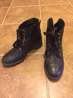 Aldo black womens boots